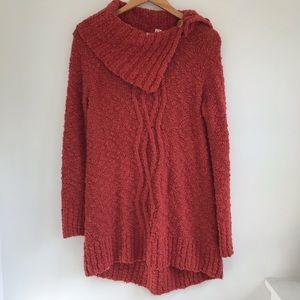 Moth Anthro burnt orange chunky knit sweater Med.